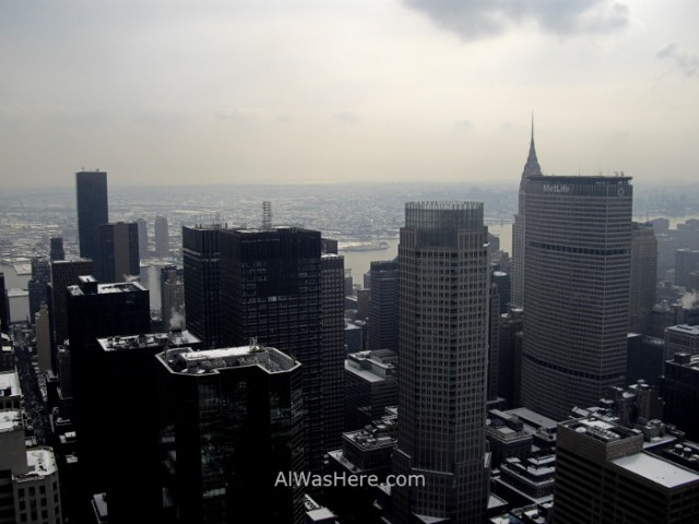 Rockefeller Center 4. Vista de Edifico Chrysler desde el Top of the Rock. view invierno winter Nueva York New