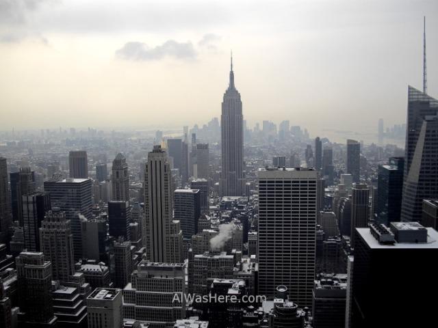 Rockefeller Center 5. Vista de Manhattan y el Empire state Building de día desde el Top of the Rock. view invierno winter Nueva York New