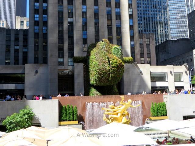 Rockefeller Center 7. Beer Garden en septiembre en Rockefeller Plaza Nueva York New
