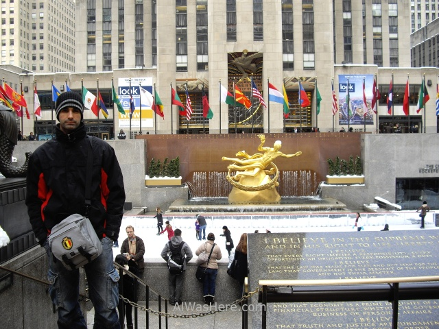 Rockefeller Center 7. Pista de hielo para patinaje del Rockefeller Plaza en invierno Nueva York New winter ice skating rink