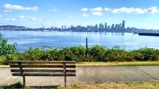 Vista de Seattle desde el parque Seacrest