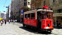 El tranvía turístico en Beyoglu