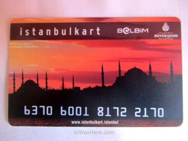 Estambul como desplazarse 1. Istanbulkart