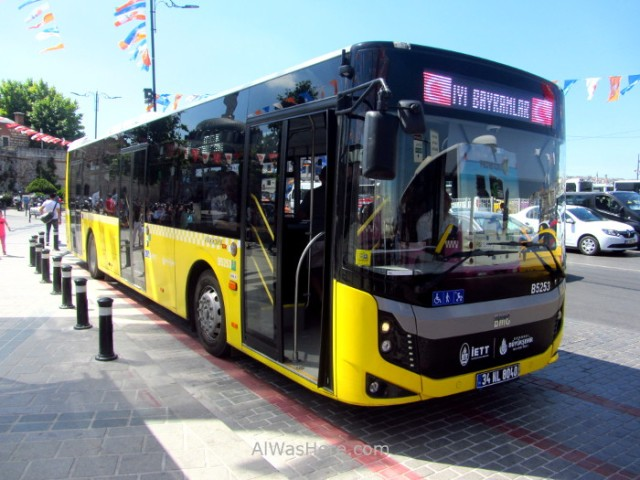Estambul como desplazarse 5. Autobus Istanbul