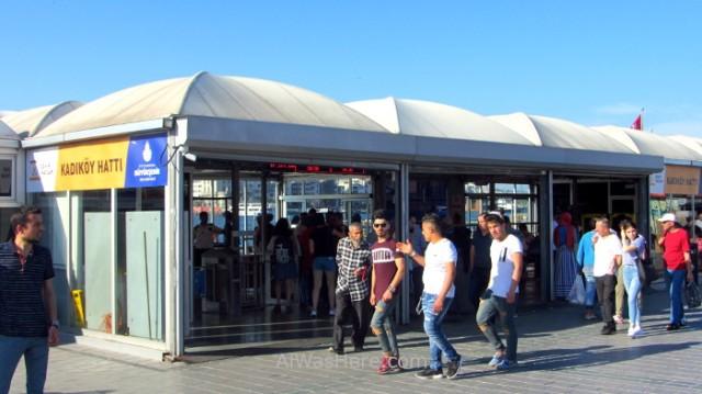 Estambul como desplazarse 7. Estacion de ferry, station Istanbul