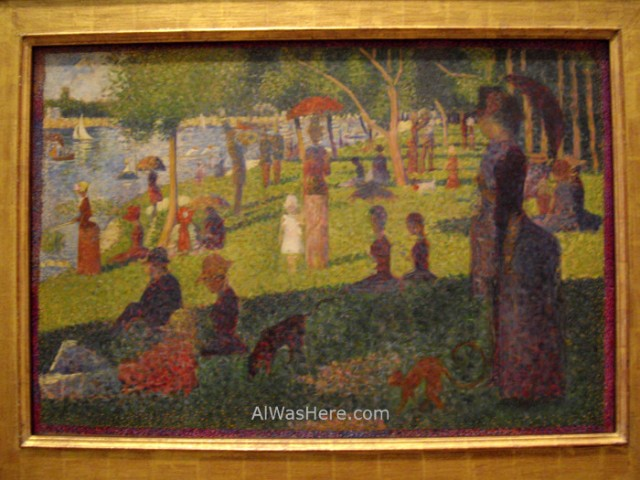 Nueva York Metropolitan 10. impresionismo George Seurat un domingo en La Grande Jatte Impressionism sunday Museo Arte, Art Museum, Nueva York. New.