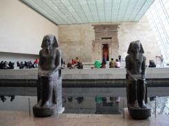 El templo Dendur dentro del museo