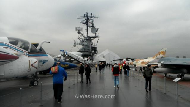 Nueva York Museo intrepido mar aire y espacio 6. Cubierta del portaaviones. Museum air sea, space aircraft carrier