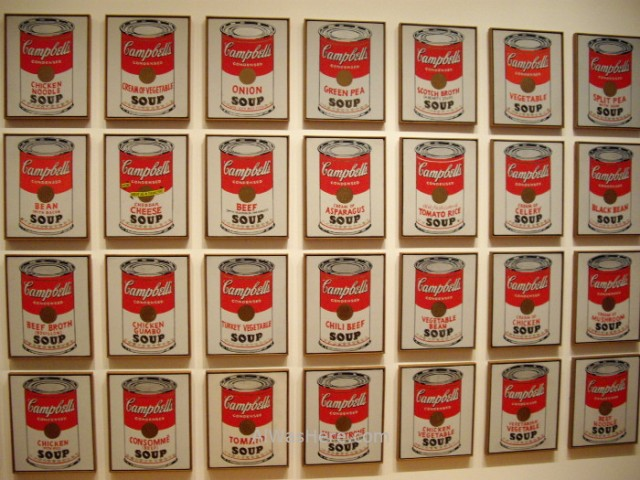 NUEVA YORK MUSEOS ARTE MODERNO 5. MoMA museum New Picasso Andy Warhol. Latas de sopa Campbell. Soup cans