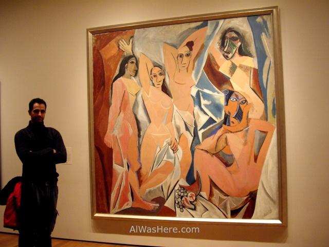 NUEVA YORK MUSEOS ARTE MODERNO 5. MoMA museum New Picasso Las señoritas de Avignon Ladys of ALWASHERE