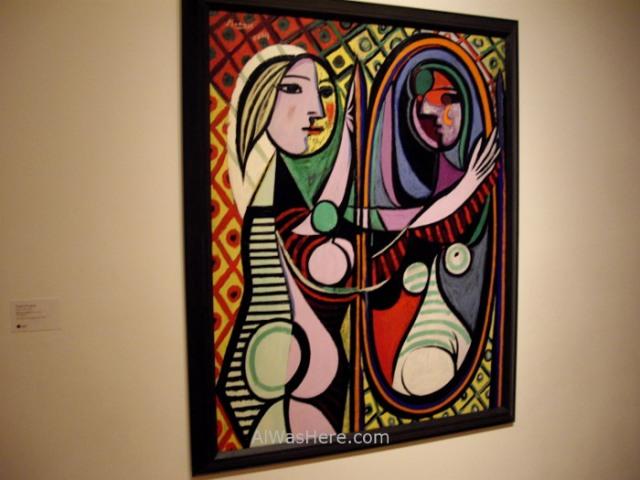 NUEVA YORK MUSEOS ARTE MODERNO 5. MoMA museum New Picasso Mujer chica ante frente al espejo Girl before a mirror