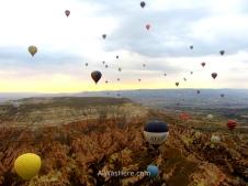 Globos sobrevolando Capadocia, Turquía