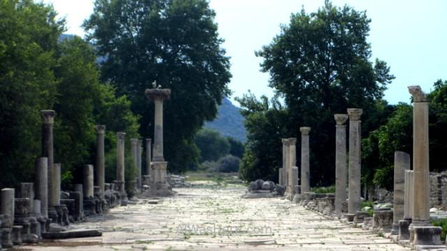EFESO 0. calle de Arcadio, entrada al antiguo puerto, old port entrance Turquia. Ephesus Turkey.