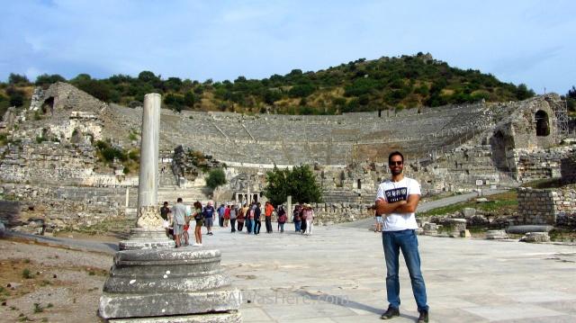 EFESO 4.Gran teatro romano, Grand roman theather Alwashere Turquia. Ephesus Turkey