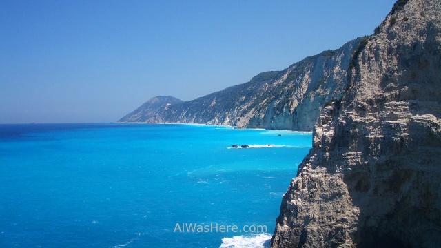 LEFKADA 1. Acantilados blancos, Leucade, Islas Jonicas, Grecia. White Cliffs Ionian Islands Greece