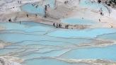 Travertinas de Pamukkale con agua, Turquía