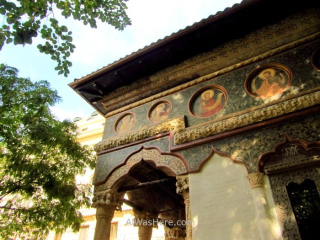 BUCAREST itinerario 3. Monasterio Stavropoleos. Monastery church iglesia Centro historico old town, Rumania. Romania Bucharest