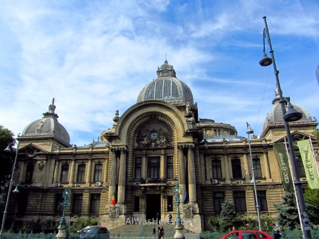 BUCAREST itinerario 4. Palatul CEC Centro historico old town, Rumania. Romania Bucharest
