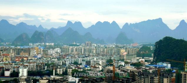 Vista de la ciudad desde la Colina Diecai, donde se puede apreciar si extensión