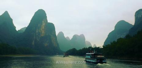 Crucero por el río Li, Guilin, China