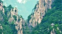 Vista del Cañón Oeste, Huangshan, China