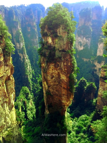 La Montaña Aleluya, llamada así por la película Avatar, en el Parque Nacional de Wulingyuan, Zhangjiajie, China