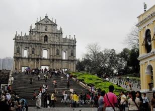Fachada de la Iglesia de San Pablo, del siglo XVII, Macao, China
