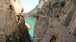 La pasarela del Caminito del Rey en El Chorro, Provincia de Málaga, Andalucía, España