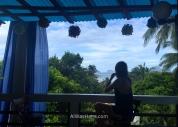 Vista desde la azotea de nuestro alojamiento en Corong Corong