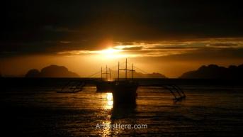 Puesta de sol en Corong Corong