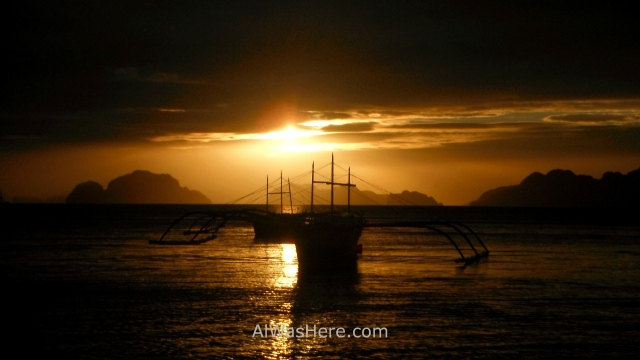 el nido informaciÓn 5. atardecer en corong corong puesta de sol, sunset dusk palawan filipinas, philippines