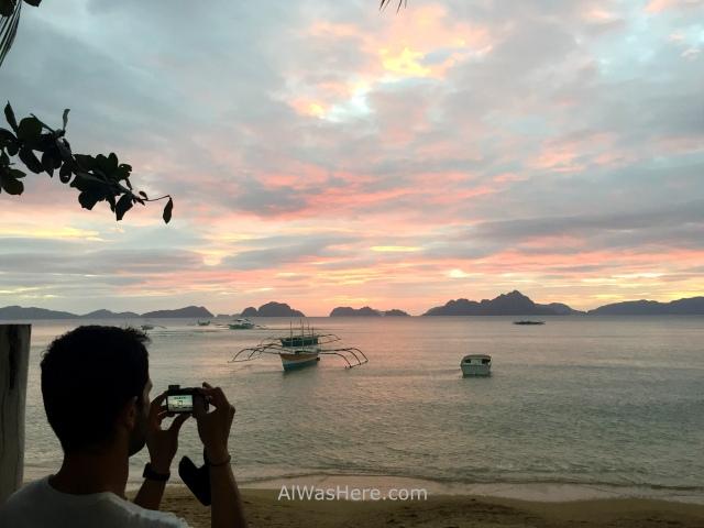 el nido informaciÓn 8. atardecer en corong corong puesta de sol, sunset dusk palawan filipinas, philippines alwashere