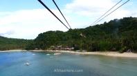 Las Cabañas Beach desde la tirolina, El Nido, Palawan, Filipinas