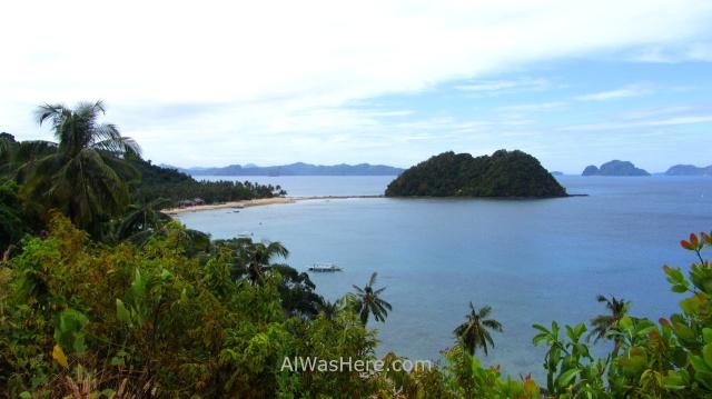 EL NIDO MARIMEGMEG LAS CABANAS BEACH PLAYA 1. vista desde la carretera Palawan, Filipinas, Philippines
