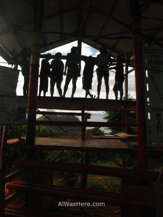 EL NIDO MARIMEGMEG LAS CABANAS BEACH PLAYA 4-2. Tirolina Zip line Palawan, Filipinas, Philippines