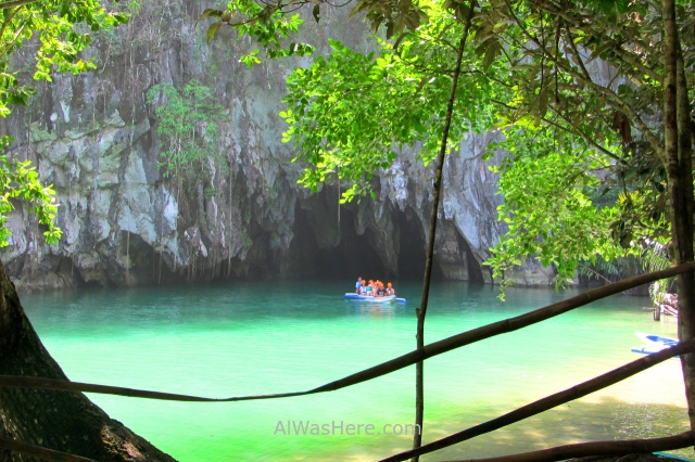 SABANG RIO SUBTERRANEO PUERTO PRINCESA 0. Entrada a la cueva. Underground River New 7 Wonders of Nature Maravillas Naturaleza, Palawan, Filipinas Philippines