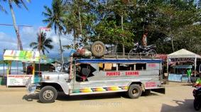 Un precioso jumbo jeepney Puerto - Sabang, Palawan, Filipinas