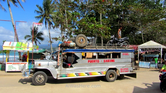 SABANG transporte jumbo jeepney a Puerto Princesa, Palawan, Filipinas Philippines