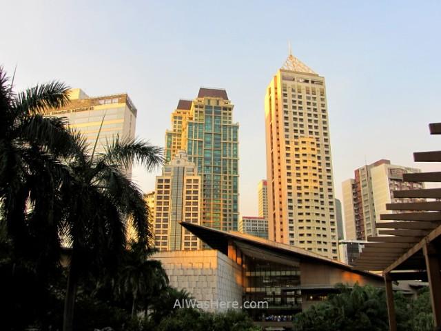 MAKATI información 3. edificios hoteles greenbelt park mall, Manila, Filipinas Philippines