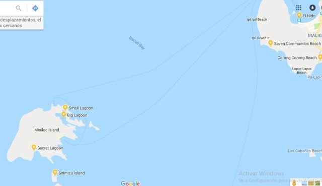 Mapa Tour A El Nido
