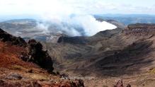 El Monte Aso emitiendo gran cantidad de humo y gases tóxicos en abril de 2013