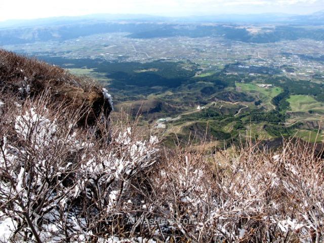 MONTE ASO 2. Nieve snow, Cima del takadake Asosan Mount Summit, Kyushu, Japon, Japan