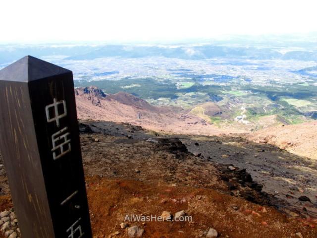 MONTE ASO 4. Cima del Nakadake Asosan Mount Summit, Kyushu, Japon, Japan