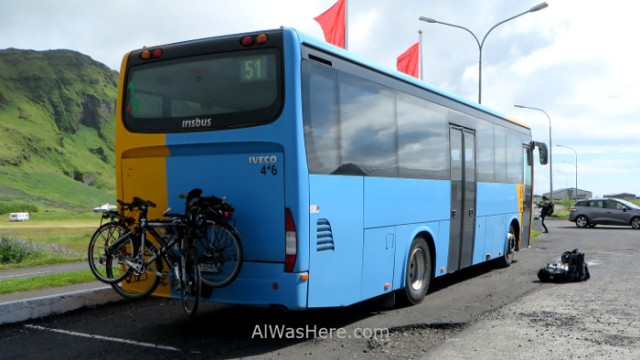 ISLANDIA TRANSPORTE 3. bicicletas bicycle alwashere Iceland transporte en autobus