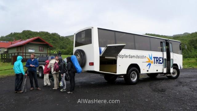 ISLANDIA TRANSPORTE 4. Iceland autobus 4x4 FWD Thorsmork