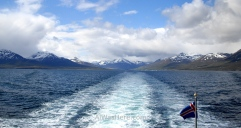 Preciosa vista desde el ferry a Isla Grimsey