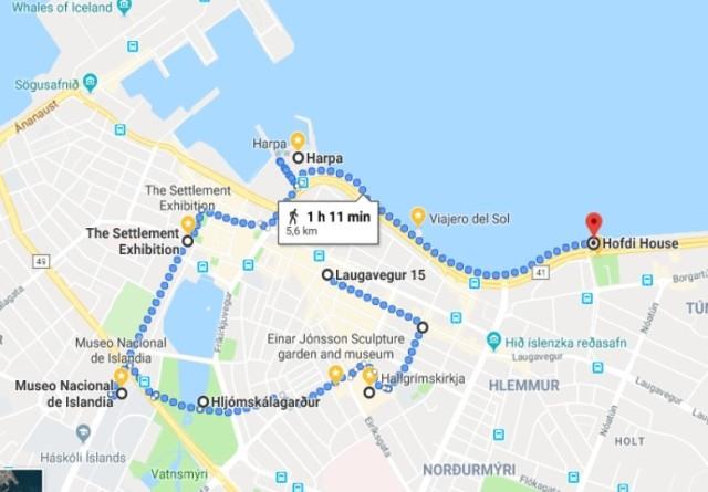 Itinerario Reikiavik Itinerary Reykjavik