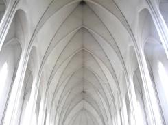 Interior de la iglesia Hallgrimskirkja. Desde luego, parece que esté entrando uno en el Cielo