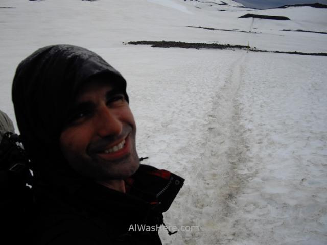 ISLANDIA 3. thorsmork Skogar trek en junio nieve snow june Iceland