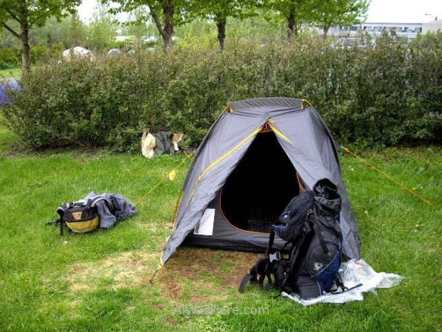 ISLANDIA 9. camping Reikiavik Reykjavik mi tienda my tent Iceland
